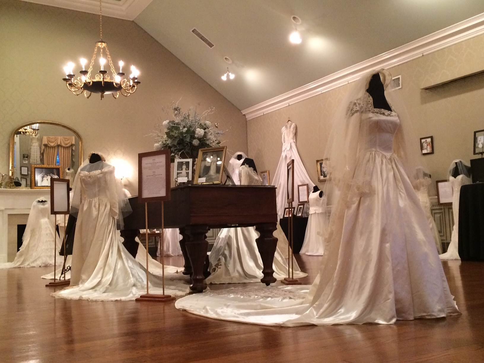 Wedding Dress Exhibit - Oaklands Mansion