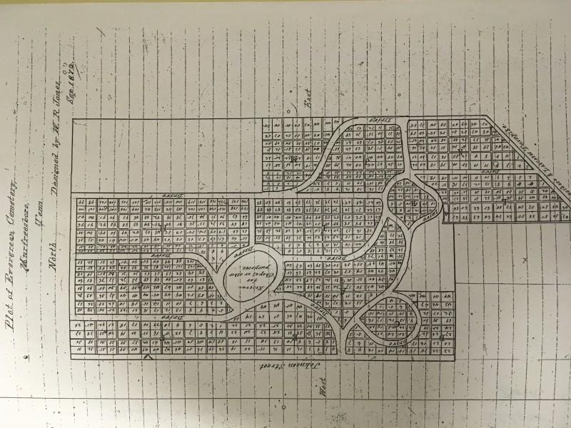 Evergreen Cemetery 1872